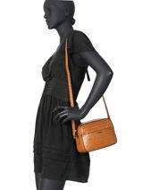 Shoulder Bag Darwin Leather Etrier Brown darwin EDAR09-vue-porte
