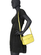 Shoulder Bag Darwin Leather Etrier Black darwin EDAR09-vue-porte