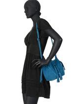 Shoulder Bag Obstacle Leather Etrier Blue obstacle EOBS09-vue-porte