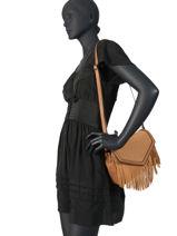 Shoulder Bag Arizona Leather Etrier Brown arizona EARI01-vue-porte