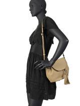 Shoulder Bag Evasion Leather Etrier Black evasion EEVA02-vue-porte