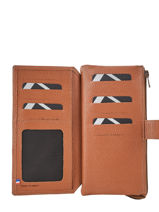 Leather Wallet Madras 2 Compartments Etrier Brown madras EMAD907-vue-porte
