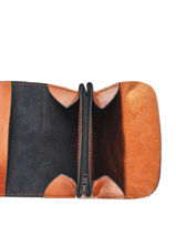 Leather Coin Purse Etincelle Etrier Orange etincelle irisee EETI650-vue-porte