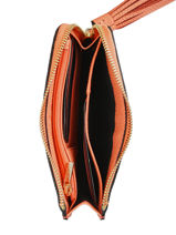 Purse Leather Etrier Orange tradition EHER97-vue-porte
