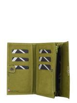 Wallet Etincelle Nubuck Leather Etrier Green etincelle nubuck EETN700-vue-porte