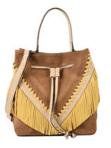 Suede Leather Arizona Bucket Bag Etrier Brown arizona EARI12