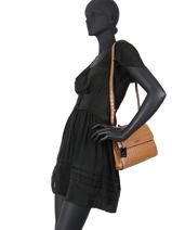 Crossbody Bag Darwin Leather Etrier Brown darwin EDAR10-vue-porte