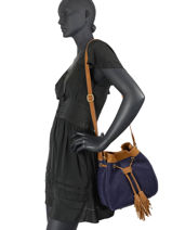 Crossbody Bag Tornade Leather Etrier Blue tornade ETOR07-vue-porte