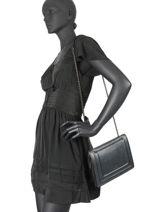 Medium Leather Delicate Irisé Crossbody Bag Etrier Black delicate irise EDEI12-vue-porte