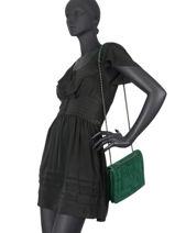 Shoulder Bag Bangkok Etrier Green bangkok EBAN05-vue-porte
