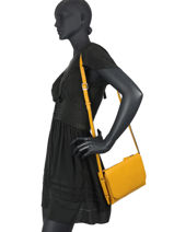 Crossbody Bag Balade Leather Etrier Yellow balade EBAL11-vue-porte