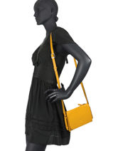 Crossbody Bag Balade Leather Etrier Yellow balade EBAL12-vue-porte