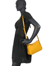 Crossbody Bag Balade Leather Etrier Yellow balade EBAL13-vue-porte