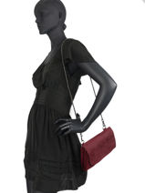 Leather Nubuck Etincelle Evening Bag Etrier Red etincelle nubuck EETN01-vue-porte