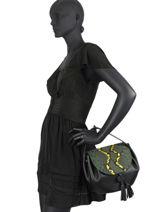 Leather Evasion Fantaisie Top-handle Bag Etrier Yellow evasion fantaisie EEVF01-vue-porte