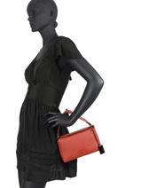 Shoulder Bag Ecuyer Leather Etrier Red ecuyer EECU04-vue-porte