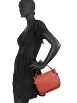Top Handle Ecuyer Leather Etrier Red ecuyer EECU01-vue-porte