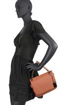 Top Handle Ecuyer Leather Etrier Brown ecuyer EECU01-vue-porte