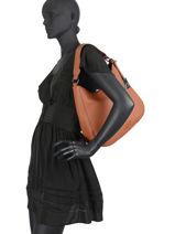 Shoulder Bag Ecuyer Leather Etrier Beige ecuyer EECU02-vue-porte