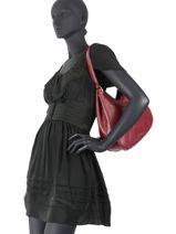 Shoulder Bag Tradition Leather Etrier Red tradition EHER21-vue-porte