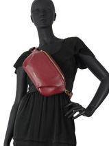 Leather Tradition Belt Bag Etrier Red tradition EHER33-vue-porte