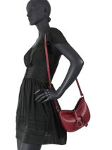 Crossbody Bag Tradition Leather Etrier Red tradition EHER3A-vue-porte