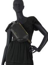 Leather Tradition Belt Bag Etrier Black tradition EHER33-vue-porte