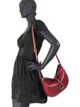Crossbody Bag Tradition Leather Etrier Red tradition EHER2A-vue-porte