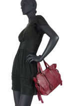 Leather Tradition Satchel Etrier Red tradition EHER24-vue-porte