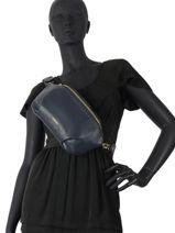 Leather Tradition Belt Bag Etrier Blue tradition EHER33-vue-porte
