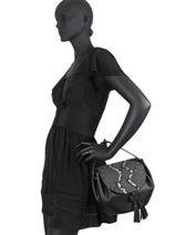 Leather Evasion Fantaisie Top-handle Bag Etrier Black evasion fantaisie EEVF01-vue-porte