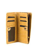 Leather Darwin Wallet Etrier Yellow darwin EDAR92-vue-porte