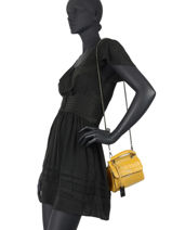 Crossbody Bag Darwin Leather Etrier Yellow darwin EDAR11-vue-porte