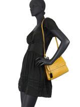 Leather Darwin Crossbody Bag Etrier Yellow darwin EDAR10-vue-porte