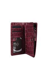 Leather Darwin Wallet Etrier Red darwin EDAR92-vue-porte
