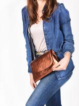 Shoulder Bag Etincelle Irisee Leather Etrier Gold etincelle irisee EETI01-vue-porte