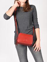 Shoulder Bag Balade Leather Etrier Red balade EBAL01-vue-porte