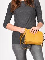 Shoulder Bag Balade Leather Etrier Orange balade EBAL01-vue-porte