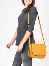 Shoulder Bag Balade Leather Etrier Yellow balade EBAL04-vue-porte