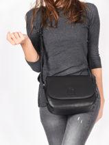 Shoulder Bag Balade Leather Etrier Black balade EBAL04-vue-porte