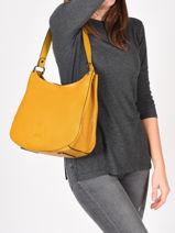 Shoulder Bag Balade Leather Etrier Yellow balade EBAL07-vue-porte