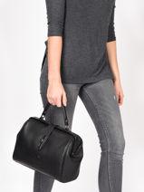 Medium Top Handle Balade Leather Etrier Black balade EBAL09-vue-porte