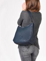 Shoulder Bag Balade Leather Etrier Blue balade EBAL07-vue-porte