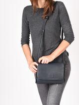 Crossbody Bag Balade Leather Etrier Blue balade EBAL11-vue-porte