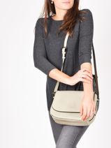 Shoulder Bag Balade Leather Etrier White balade EBAL04-vue-porte
