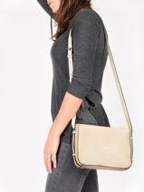 Shoulder Bag Balade Leather Etrier White balade EBAL05-vue-porte