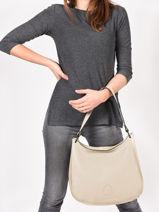 Shoulder Bag Balade Leather Etrier White balade EBAL07-vue-porte