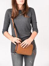 Shoulder Bag Balade Leather Etrier Black balade EBAL01-vue-porte