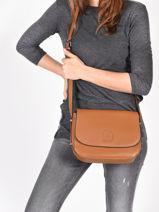 Shoulder Bag Balade Leather Etrier Brown balade EBAL04-vue-porte