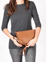 Shoulder Bag Balade Leather Etrier Brown balade EBAL05-vue-porte